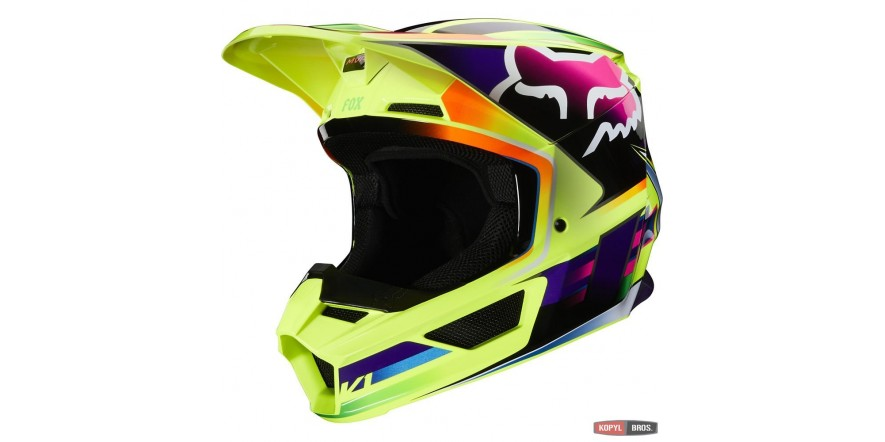 FOX V1 GAMA HELMET [YELLOW] XL