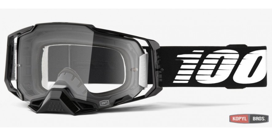 Мото очки 100% ARMEGA Goggle Black - Clear Lens