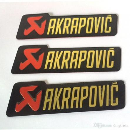 Алюминиевая табличка на глушитель Akrapovic