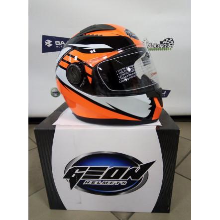 Мотошлем GEON 968 Интеграл Race black-orange