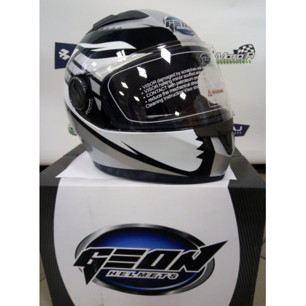 Купить мотошлем Интеграл GEON 968 Race black-silvery