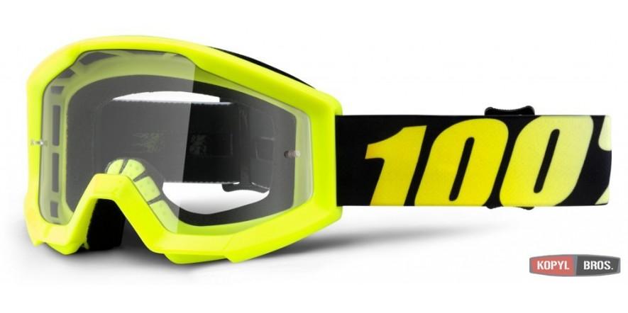 Мото очки 100% STRATA Goggle Neon Yellow - Clear Lens