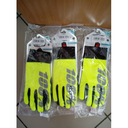 Зимние мотоперчатки Ride 100% BRISKER Hydromatic Waterproof Glove Neon Yellow