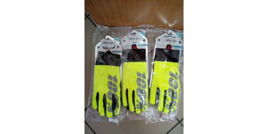Ride 100% BRISKER Hydromatic Waterproof Glove Neon Yellow