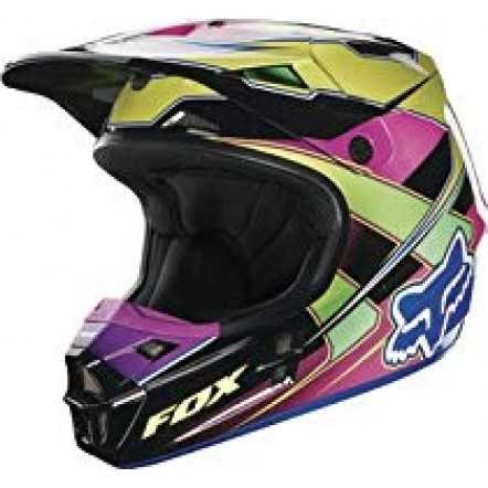 Мотошлем Fox mx v1 race helmet yellow blue L