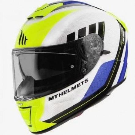 Мотошлем MT Blade 2 SV Plus White/Yellow/Blue/Black XL
