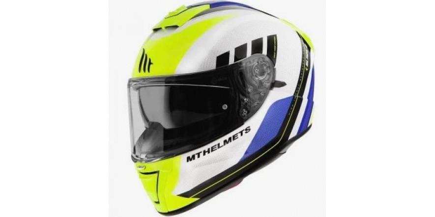 Мотошлем MT Blade 2 SV Plus White/Yellow/Blue/Black