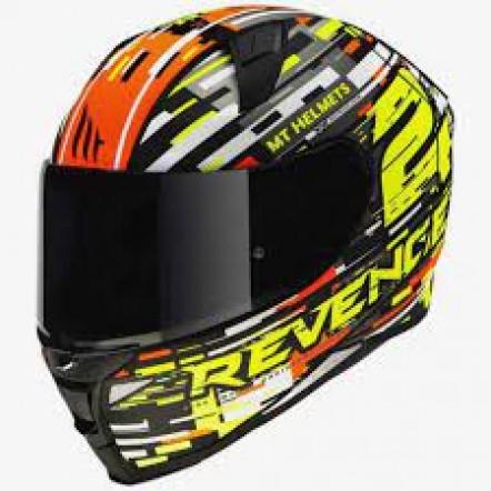 Мотошлем MT Revenge 2 Baye Orange/Black/Grey/White XL