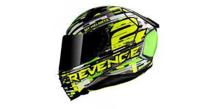 Мотошлем MT Revenge 2 Baye Green/Black/Grey/White L