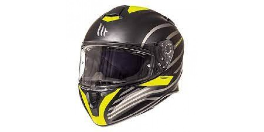 Мотошлем MT Targo Doppler Black/Yellow XL