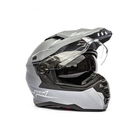 Мотошлем GEON 722 Дуал-спорт с очками серий матовый Dual-sport ADV