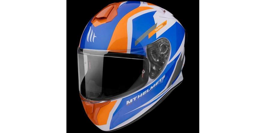 Мотошлем MT Targo Pro Sound Orange L,XL