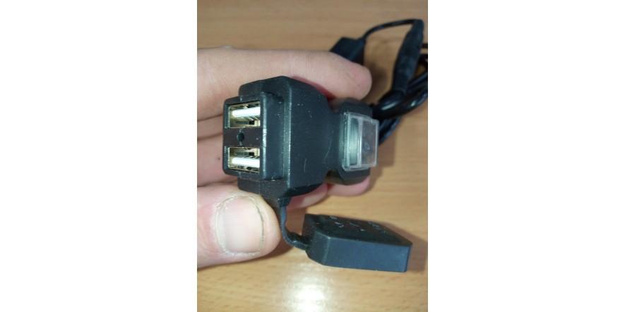 USB розетка 2.1А для мотоцикла на руль