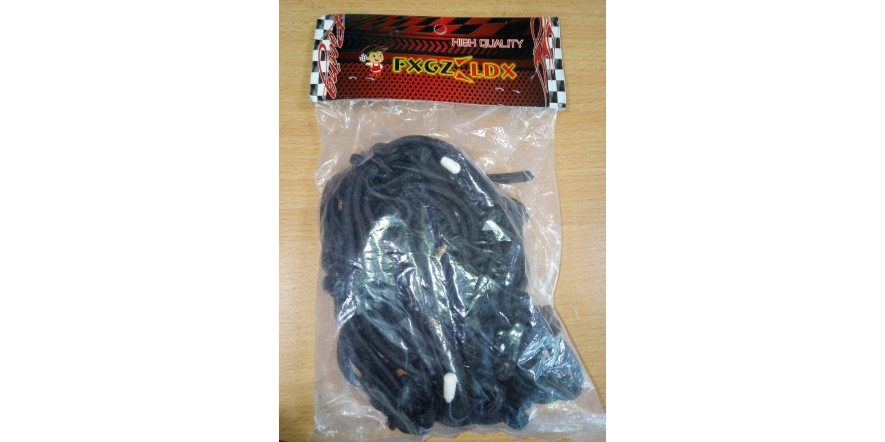 Сетка-паук багажная черная для шлема 40*40