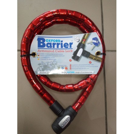 Трос противоугонный Oxford 1.4m x 25mm Barrier - Red