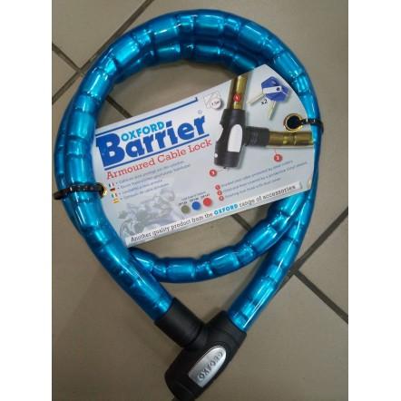 Трос противоугонный Oxford 1.4m x 25mm Barrier - Blue