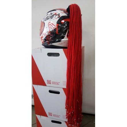 Хвост на шлем красный 85 см одинарный