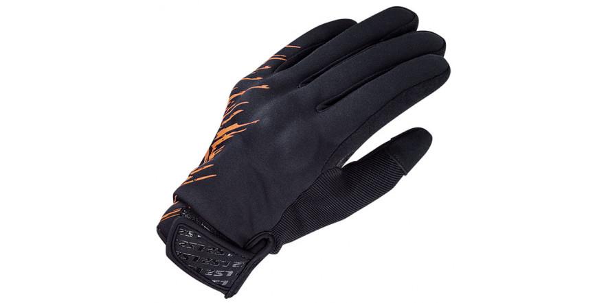 LS2 Jet Man Gloves Grey Orange