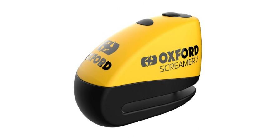 Oxford Screamer7 Alarm Disc Lock Yellow/black