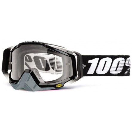 Мото очки 100% RACECRAFT Goggle Abyss Black - Clear Lens