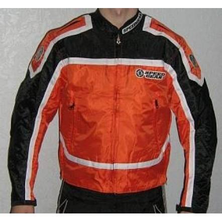 Куртка SPEED GEAR оранжево-черная с защитой