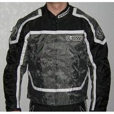 Куртка SPEED GEAR серо-черная с защитой