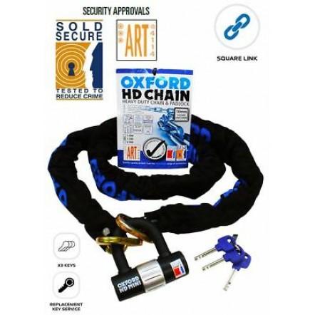 Цепь с замком Oxford HD Chain Lock 1.0mtr