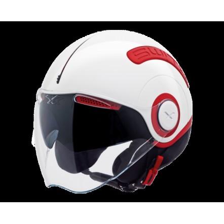 Мотошлем NEXX SX10 білий-червоний