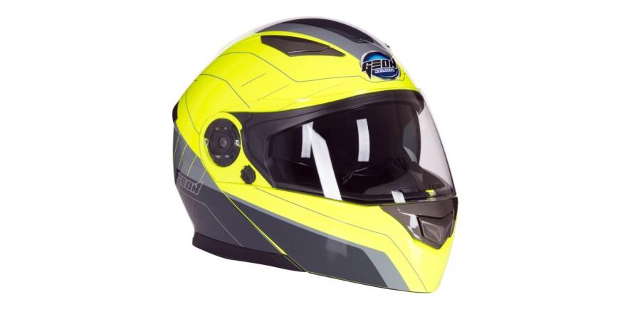 Шлем GEON 950 Модуляр с очками TOUR GREY YELLOW