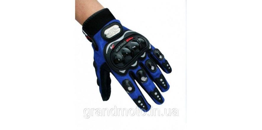 Мотоперчатки текстильные Probiker синий L