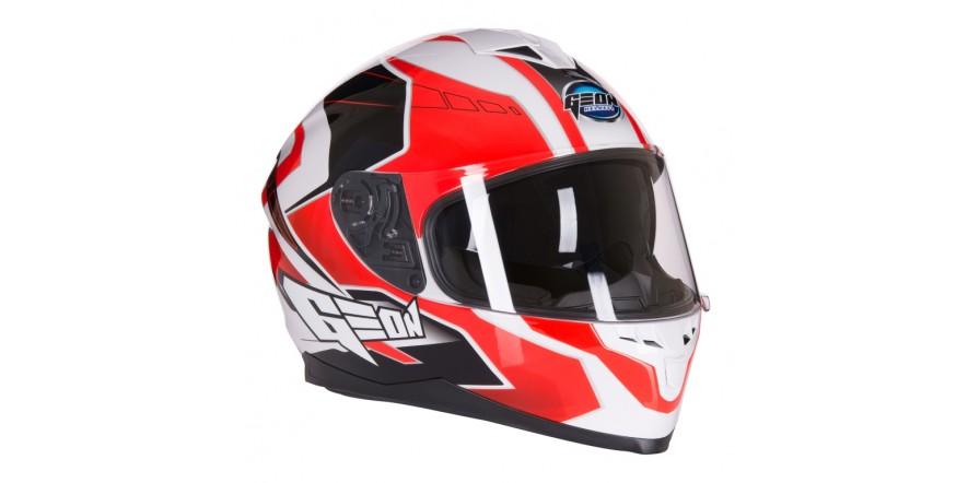 Шлем GEON 967 Интеграл с очками Boxter BLACK/WHITE