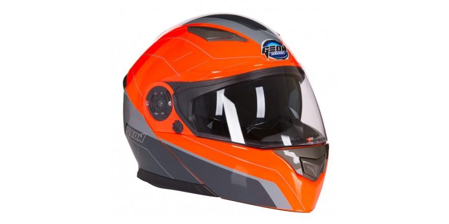 Шлем GEON 950 Модуляр с очками TOUR GREY ORANGE