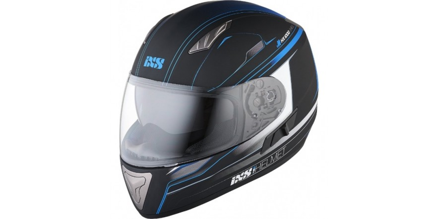 Шлем IXS HX 1000 fork чёрный синий мат