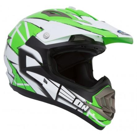 Мотошлем GEON 614 Кросс MX-Spirit Neon Green