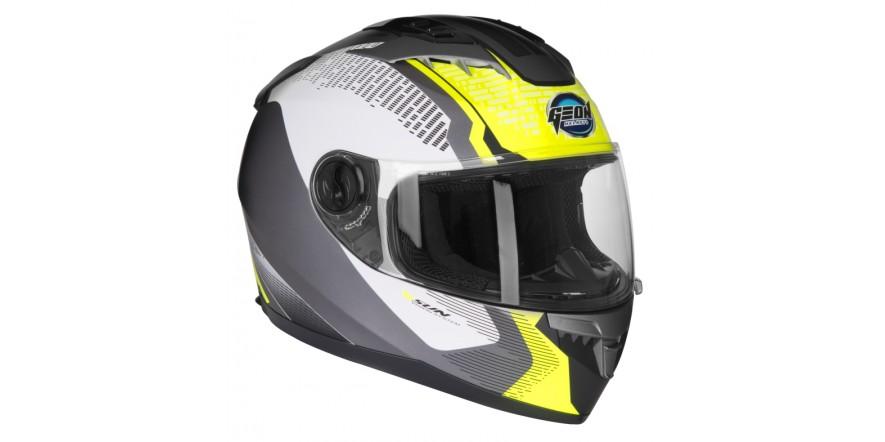 Шлем GEON 968 Интеграл Stealth White/Yellow