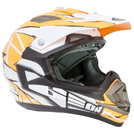 Мотошлем GEON 614 Кросс MX-Spirit Neon Orange
