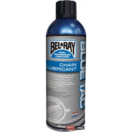Мото смазка цепи BEL-RAY BLUE TAC CHAIN LUBE 400мл