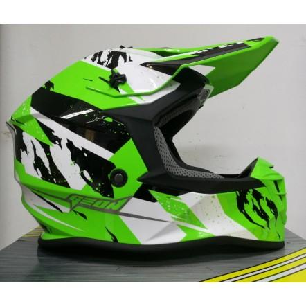 Мотошлем Geon 633 MX Fox Cross Black/Neon Green XL