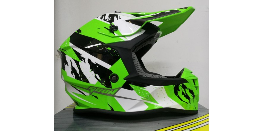 Geon 633 MX Fox Cross Black/Neon Green