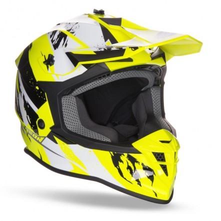 Мотошлем Geon 633 MX Fox Cross Black/Neon Yellow XL