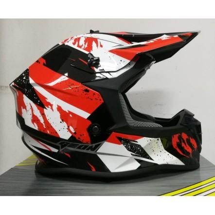 Мотошлем Geon 633 MX Fox Cross Red/Black XL