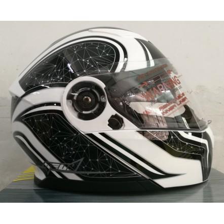 Мотошлем Geon 950 Stars Black/White