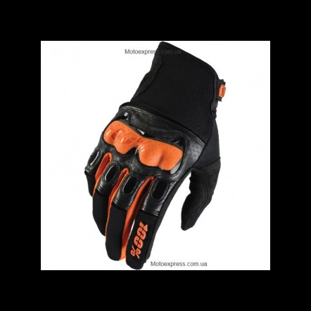 Мото перчатки Ride 100% Derestricted Glove (Black/Orange)
