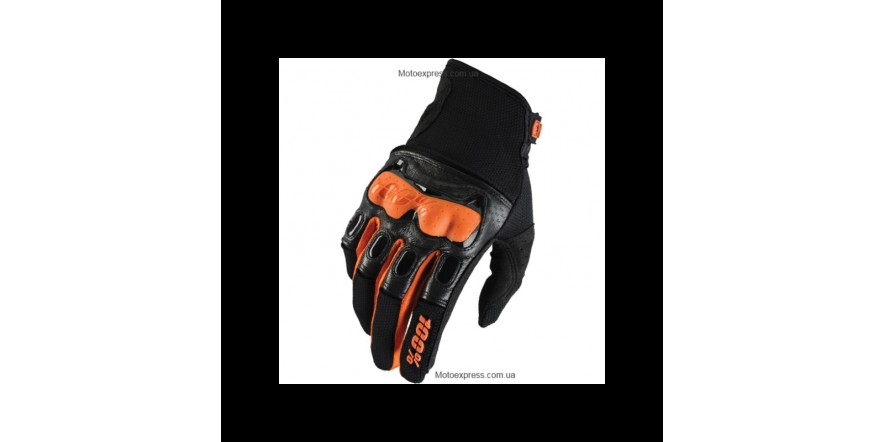 Мото перчатки Ride 100% Derestricted Glove (Black/Orange)