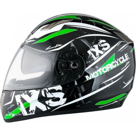 Мотошлем IXS 1000 Strike (Black White Green)