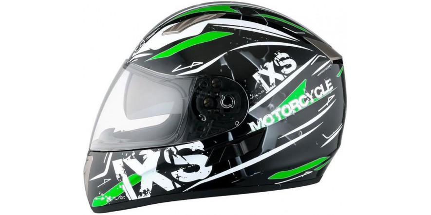 Шлем IXS 1000 Strike (Black White Green)