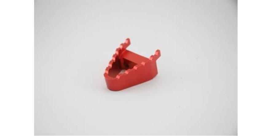 Лапка сменная педали тормоза CNC (красная)