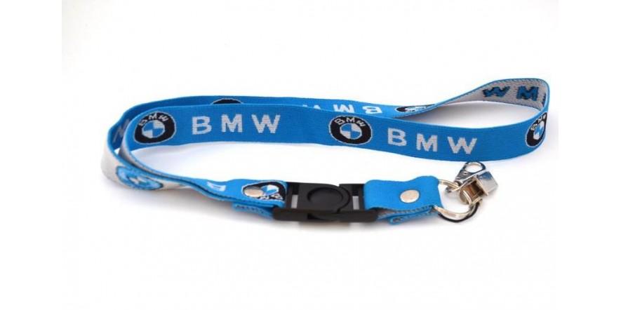 Шнурок на шею для мотоциклиста BMW резинка