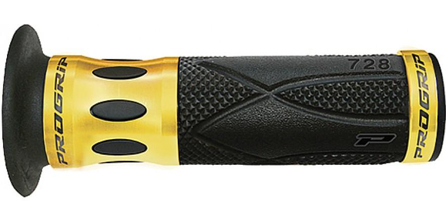 Рукоятки ProGrip 728 22/25 мм ал. кольцо золото черный