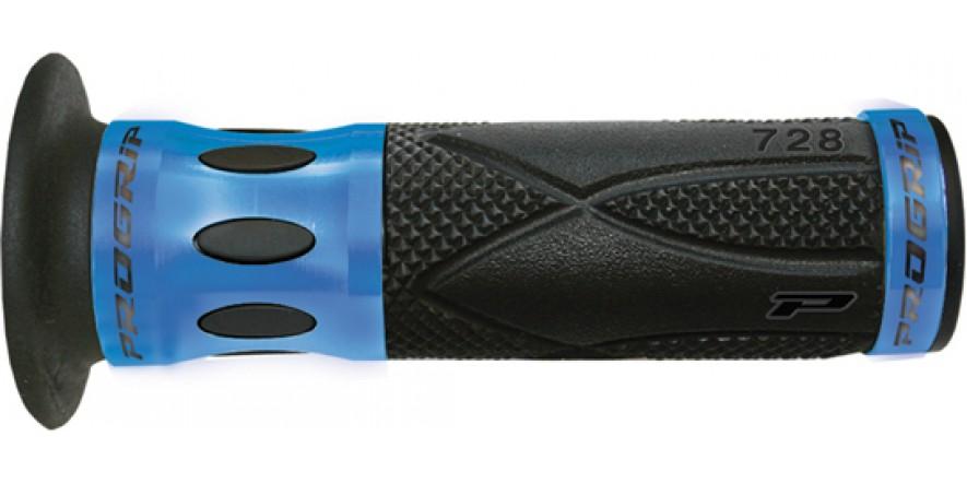 Рукоятки ProGrip 728 22/25 мм ал. кольцо сине черный